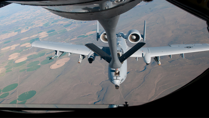 KC-135 mid-air refueling A-10