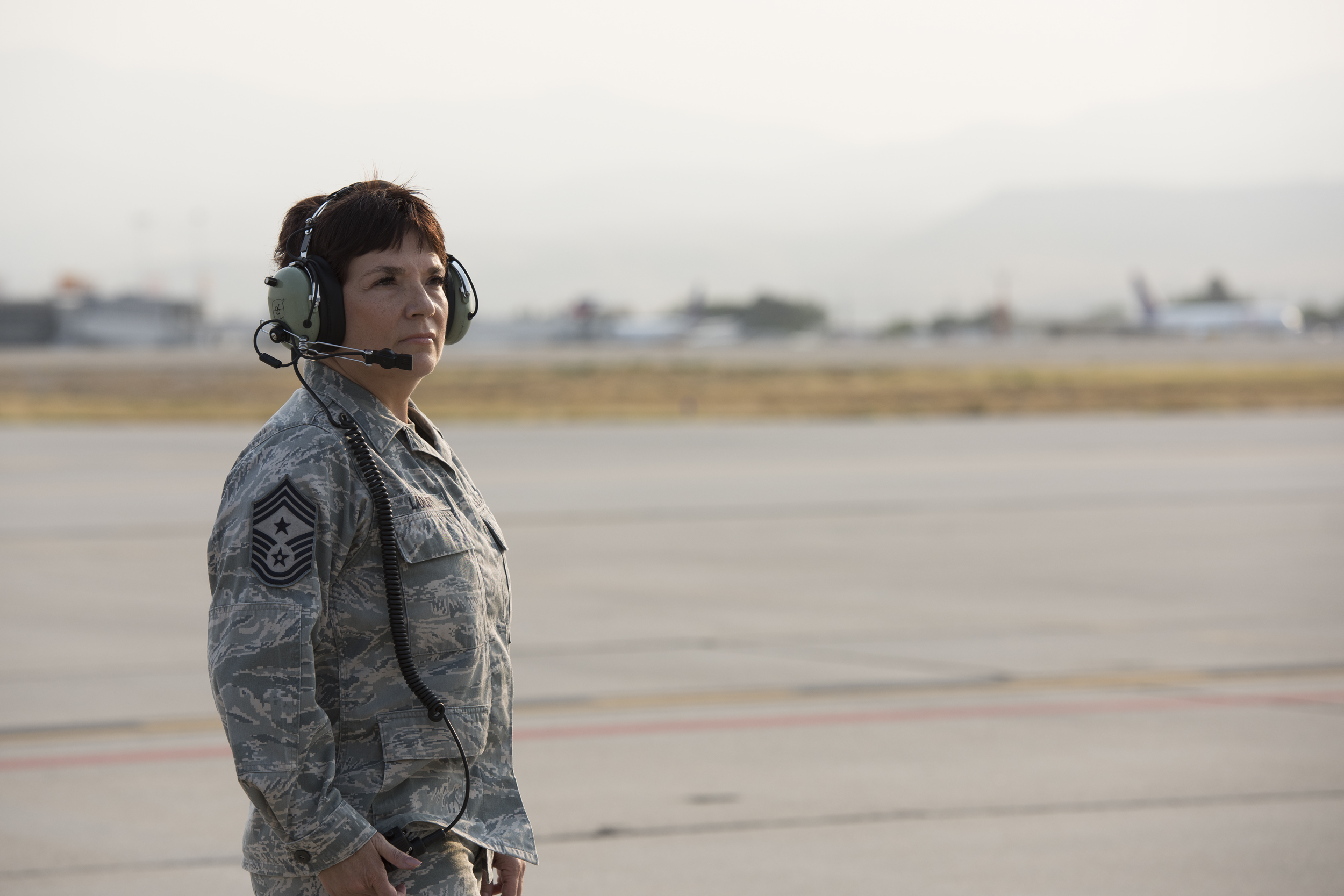 124th Fighter Wing Command Chief Master Sgt. Tammy Ladley Sends Off A-10